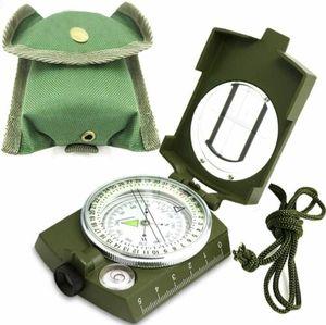 Bundeswehr Armeekompass mit Etui oliv Kompass Metallgehäuse Marschkompass Metall Peil Bundeswehr Compass Reisen mit Tasche