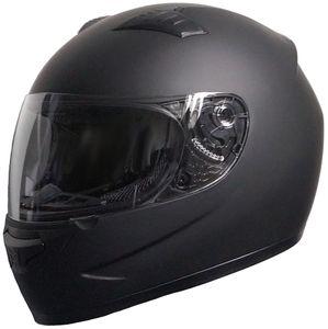 Integralhelm Motorradhelm Helm 805 Rollerhelm Gr. M Sturzhelm matt schwarz (Visier klar)
