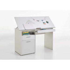 3009-001 DELFT Weiß Schreibtisch Kinderschreibtisch Jugendzimmertisch Kindertisch klappbar FMD