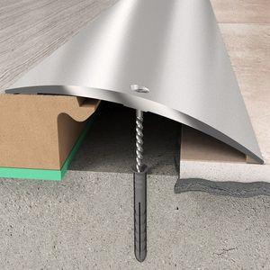 Übergangsprofil 70x6,55x1860 mm Aluminiumprofil Silber Übergangsleiste Bodenprofil Aluprofil