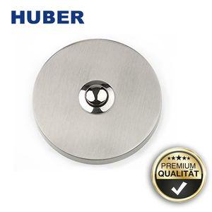 Huber 12010 Klingelplatte rund Klingel Edelstahl Klingelknopf auf Putz