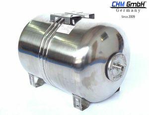 CHM GmbH® 100 L Membrankessel Edelstahltank, Druckbehälter,  Druckkessel 10 Bar Hauswasserwerk