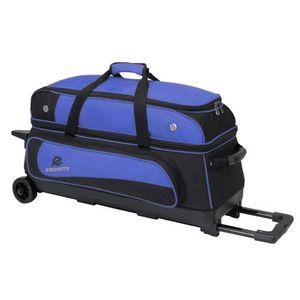 Bowling 3 Ball Tasche Ebonite Transport III Roller Blau