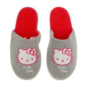 Hausschuhe Damen weich Hello Kitty grau warm Kinder Schlappen Slipper - 35/38 - 39/42, Größe TVM Europe:39-42. Schwarz