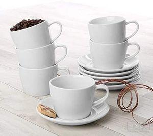 """Holst Porzellan/Germany, 12er Vorteilsset Porzellan Kaffeetassen 0,22 l mit Untere """"Anna"""", weiß, KT 004 SET 12"""
