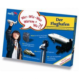 NORIS Der Flughafen Wissensspiel inkl. DVD Fragespiel Kartenspiel für Kinder Gesellschaftsspiel