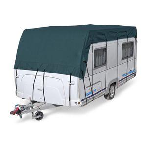 Wohnwagen & Wohnmobil Schutzdach | 7 x 3 m | vierlagig | wintertauglich | Midnight Olive