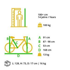 BIKESTAR Singlespeed 700C 28 Zoll City Stadt Fahrrad | 53 cm Rahmen Rennrad Retro Vintage Herren Damen Rad | Beige & Braun