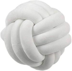 Knotenkissen, geknotetes Kissen für Sofa, Bett, dekorativ, skandinavisch, Zierkissen Knoten, Ø 25 cm