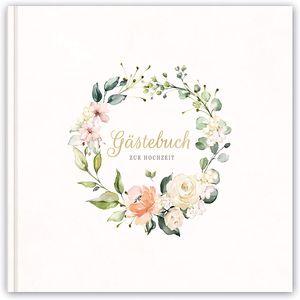 Hochzeitsbuch Gästebuch zur Hochzeit   Hochzeitsalbum - Hardcover   21x21cm   120 Seiten