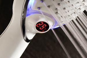 Schütte LED-Handbrause POLARIS drei Farbvarianten Temperaturanzeige Chrom/Weiß 60782
