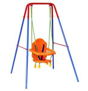 Kinderschaukel 3in1 Gartenschaukel Schaukelgestell Schaukelgerüst 107x96x131cm Kunststoff