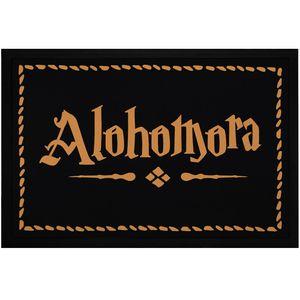 Fußmatte mit Aufschrift Alohomora Türmatte für Fantasy-Fans Zauberspruch rutschfest & waschbar Moonworks® schwarz 60x40cm