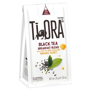 Ti Ora Schwarzer Tee mit Manuka Honig, Black Breakfast, 15 Beutel