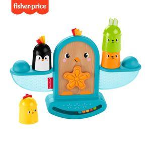 Fisher-Price Stapel & Schaukel Vögelchen, Baby-Spielzeug, Stapelspielzeug