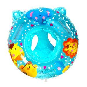 Schwimmring, Aufblasbarer zum Schwimmen für Kleinkinder, Verdickter Doppelballon-Schwimmring, Blau