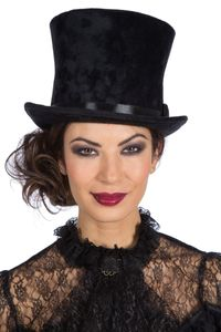Kostüm Zubehör Zylinder  Hut Kopfbedeckung Karneval Fasching schwarz