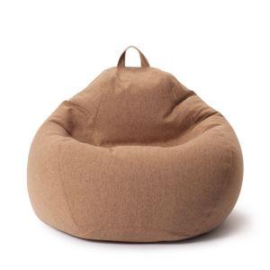 Lumaland Comfort Line XL Sitzsack - 90x110x50 cm Bodenkissen, Bean Bag Chair - 250 L - EPS Perlen Füllung - Braun