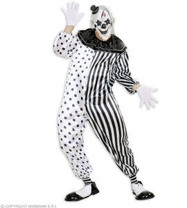 Kostüm Killer Clown Pierrot - Halloween Overall L - 52/54