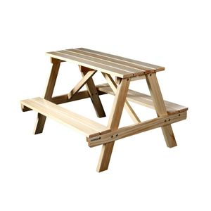 Kinder Picknicktisch Gartengarnitur Kindersitzgruppe  Holz Tisch/Bank Kiefer PTS-186-1/1158
