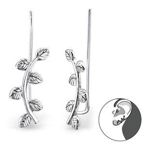 """Ear Cuffs Ohrklemmen Ohrringe Silber """"Blätter"""""""