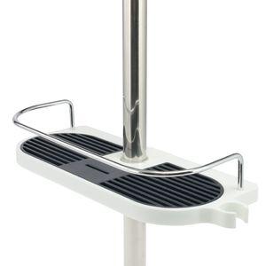 bremermann Duschablage für Duschstangen, Kunststoff, für Durchmesser von 18 bis 25 mm, ohne Bohren
