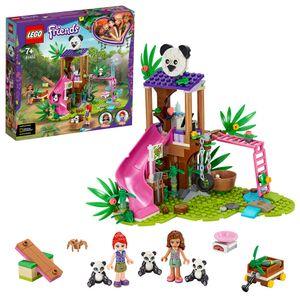 LEGO 41422 Friends Panda-Rettungsstation, Spielset mit Olivia und Tierfiguren, Dschungel-Rettung Serie