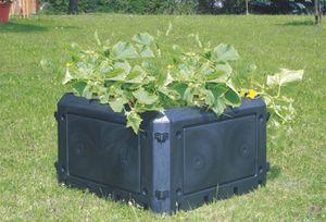 KHW Komposter Aufbauset ohne Deckel  ; Farbe: anthrazit ; Maße (LxBxH): 75 cm x 75 cm x 45 cm ; 56100