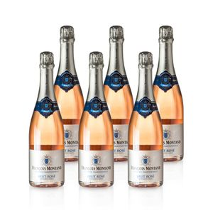 Rosé Sekt BRUT – François Montand - Méthode Traditionelle, Paket mit:6 Flaschen