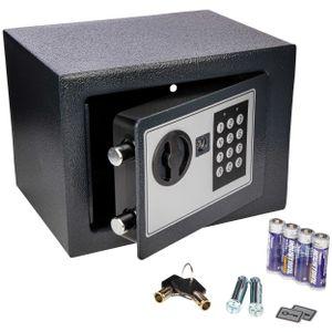 ONVAYA® Mini Tresor aus Stahl   17 x 23 x 17 cm   Möbeltresor   Safe   Wandtresor mit Zahlenschloss   Geldtresor