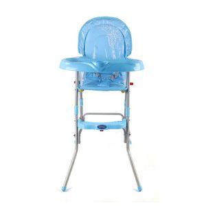 Klappbar Kinderhochstuhl Baby Essstuhl, Hohe Qualität 3 in1 Sitzerhöhung Kombihochstuhl mit Sitzgurt und Tablett  bis 14 kg(Blau)