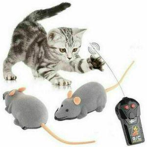 Miixia Elektronische Ratte Maus Spielzeug mit Fernbedienung für Katzen Hunde Haustier