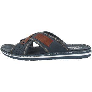 Rieker 21061-15 Herren Schuhe Pantoletten Clogs , Größe:42 EU, Farbe:Blau