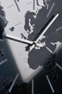 Sompex Clocks Wanduhr World, Farbe:silber