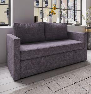 "VCM 2er Schlafsofa Sofabett Couch Sofa mit Schlaffunktion ""Ensal"" Grau"