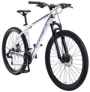 BIKESTAR Alu Mountainbike 27.5 Zoll   21 Gang Hardtail Sport MTB 18 Zoll Rahmen Scheibenbremse Federgabel   Weiß