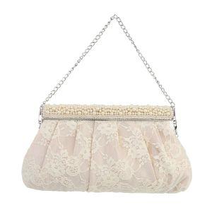Ital-Design Damen Taschen Abendtaschen & Clutches Creme