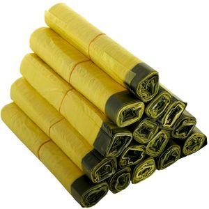 Gelber Sack 10 Rollen à 13 Stück, 130 Müllsäcke, 90 Liter mit Zugband