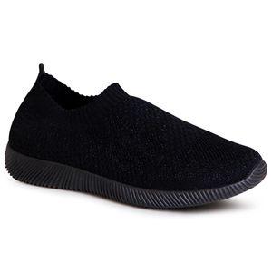 topschuhe24 2151 Damen Sneaker Light Slipper , Farbe:Schwarz, Größe:39 EU