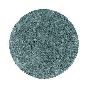 Teppium Hochflor Teppich, Wohnzimmerteppich, Rund Shaggy, Soft Weich Rund, Farbe:AQUA,160 cm x 160 cm Rund