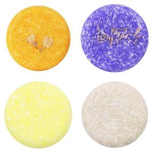 4Pcs natürliche handgemachte feste Seife ökologische pflegende Haarseife