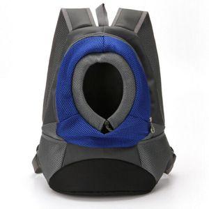 Hunde Tragetasche Haustier Umhängetasche Hand Tasche Katze Welpentasche Rucksack 40 * 35 * 17CM  Blau