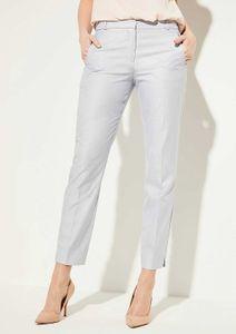 COMMA Business-Hose helle Damen Stoff-Hose im meliertem Design Blau, Größe:34