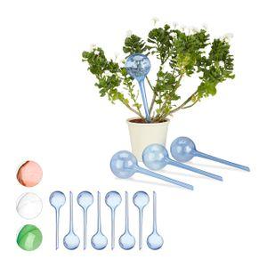 relaxdays 12x Bewässerungskugeln im Set Bewässerungssysteme Watering Bulb Pflanzensitter