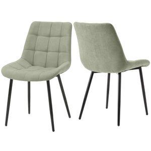 Curyu 2 Stk.Esszimmerstühle, Wohnzimmerstuhl Sessel Stoffkissen-Akzentstühle(Grün)