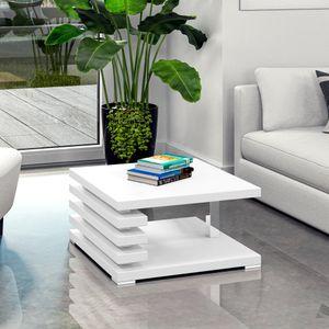 Selsey Couchtisch ARIENE - Wohnzimmertisch in Weiß Matt, 60 x 60 cm