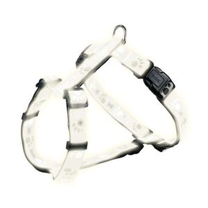 Trixie Geschirr Silver Reflect - Pfotenmotiv 40-65cm / 20mm