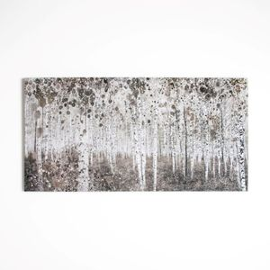 Art for the Home - Wald in Aquarell - Leinwandbild - 120x60 cm
