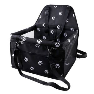Hunde Autositz für Kleine Mittlere Hunde, Robust Rückbank & Vordersitz Hundesitz mit Sicherheitsgurt, Wasserdicht Faltbar Autositzbezug,schwarz