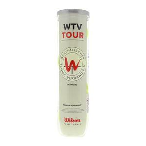 Wilson WTV Tour 4er Dose Tennisbälle Weiß - Unisex - Erwachsene